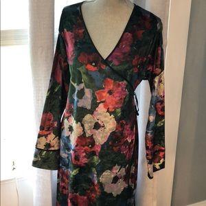 Zara light weight wrap long sleeve dress size lg